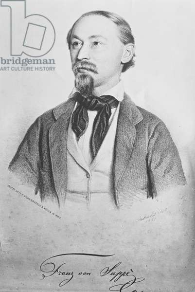 Franz von Suppe (1819-95), Austrian composer (litho)
