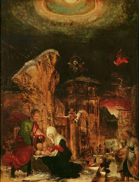 Birth of Christ (Holy Night), c.1520-25, (for detail see 66589)