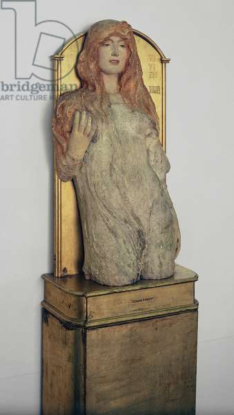 Vivien from Tennyson's 'Idylls of the King', 1896 (polychromatic plaster)