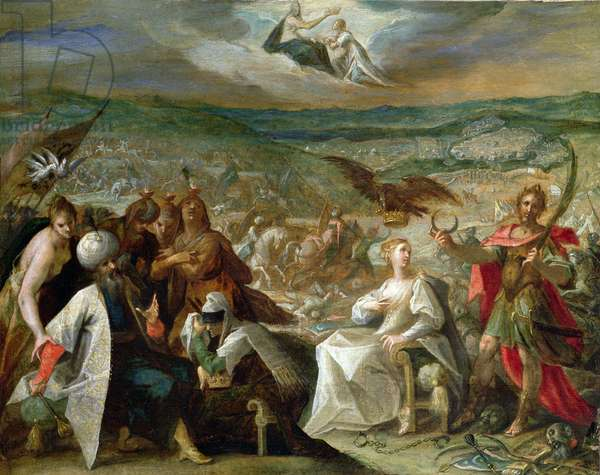 Allegory of the Turkish Wars: The Capture of Stuhlweissenburg, 1603-4