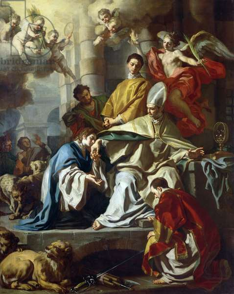 St. Januarius visited in prison by Proculus and Sosius