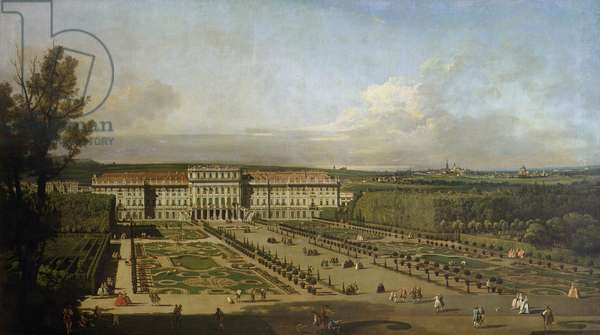 Schonbrunn Palace and gardens, 1759-61 (oil on canvas)
