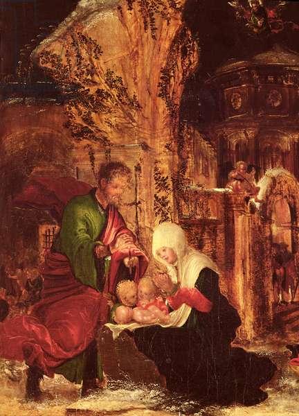 Birth of Christ (Holy Night), c.1520-25, (detail of 66588)