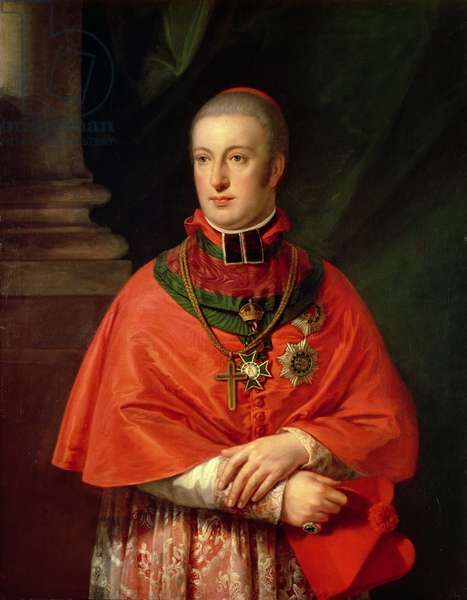 Rudolf of Habsburg, Archduke of Austria (1788-1831), youngest son of Leopold II (1747-93), in cardinal's robes