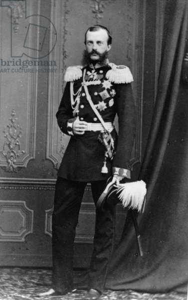 Portrait of Grand Duke Michael Nikolaevich of Russia, from the studio of E. Westly & Co. (b/w photo)