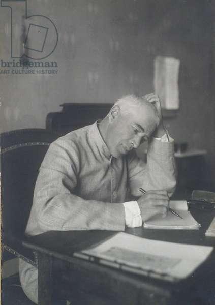 Portrait of the theatre director Constantin Stanislavski (b/w photo)