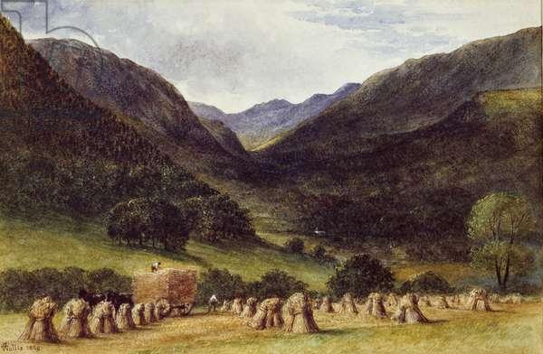 Harvest Time, Llyn Crafnant, North Wales, 1869 (w/c on paper)