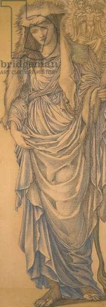Tiburtine Sibyl (pencil and coloured chalks on paper)