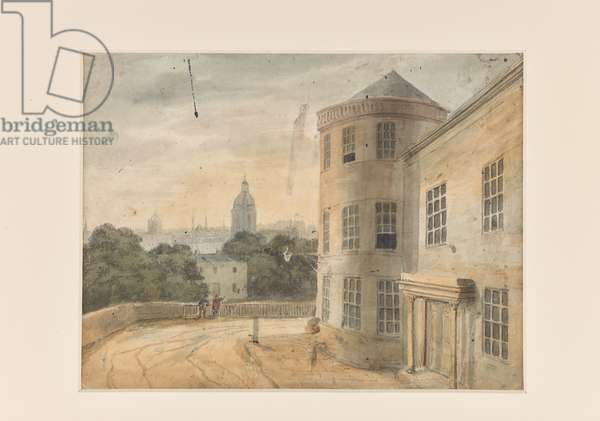A View of The Crescent, Cambridge Street, Birmingham  (w/c on paper)