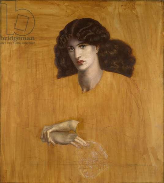 La Donna Della Finestra [The Lady of Pity], 1881 (oil on canvas over black chalk under-drawing)