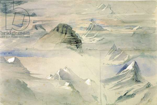 Alpine Peaks: Jungfrau and others, 1846 (w/c on paper)