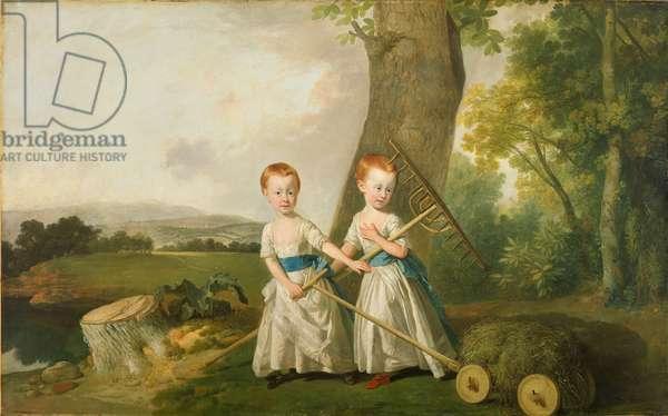 The Blunt Children, c.1766-80 (oil on canvas)