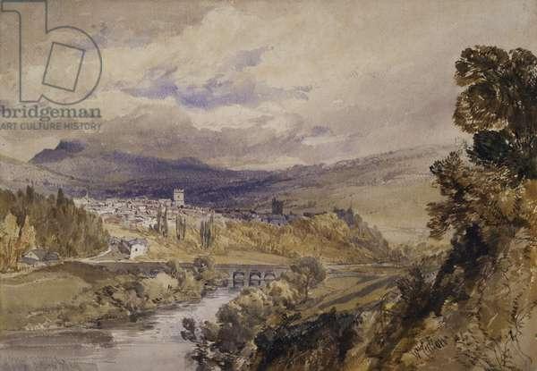 Abergavenny, 1848 (w/c on paper)