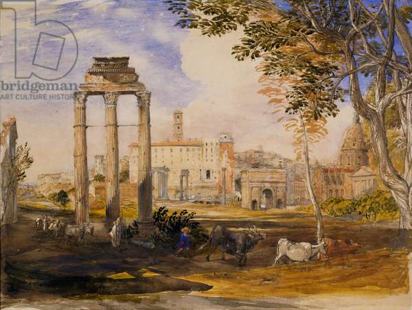 The Forum, Rome, 1837 (w/c & bodycolour on paper)