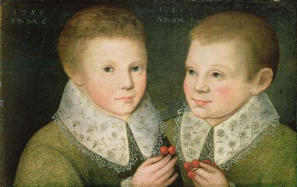 Portrait of Two Brothers, 1586 (oil on canvas)