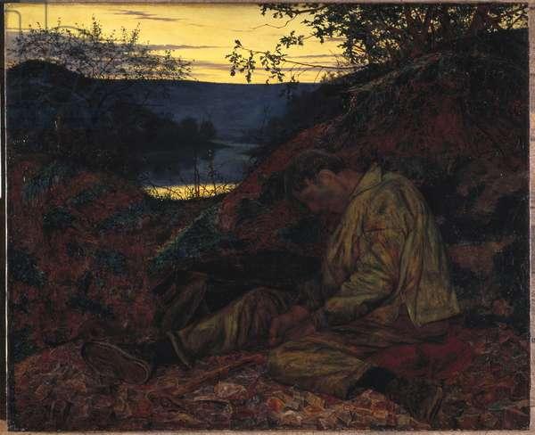 The Stonebreaker, 1857 (oil on panel)