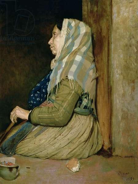 A Roman Beggar Woman, 1857 (oil on canvas)