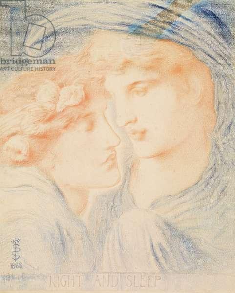 Night and Sleep, 1888 (pastel on paper)