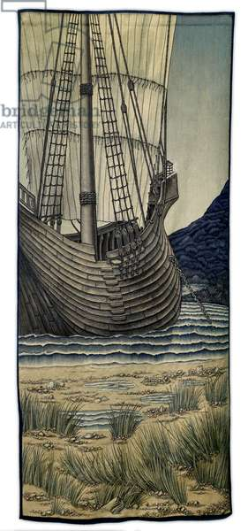Quest for the Holy Grail Tapestries - Panel 5 - The Ship, 1900