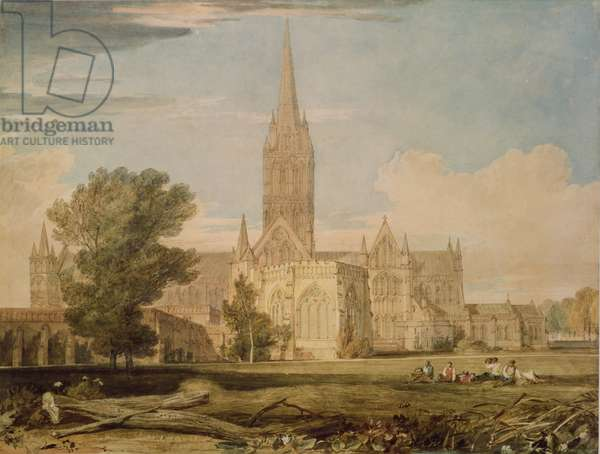 South View of Salisbury Cathedral, 1797-98 (pencil & w/c on paper)