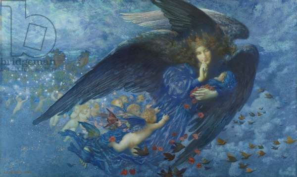 Night with her Train of Stars, 1912 (w/c & gouache on paper)