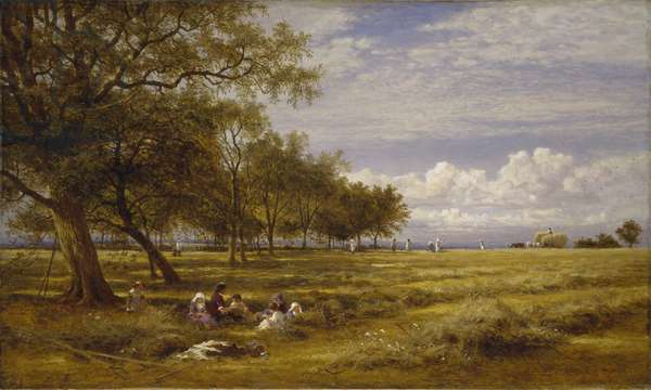 An English Hayfield, 1878 (oil on canvas)