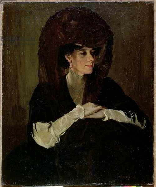The Brown Veil (oil on canvas)