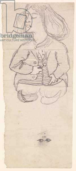 Composite Drawing of a Stunner / A Victorian Woman in her Underwear, 1861-63 (pencil on paper)