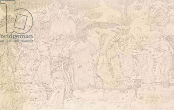 The Rape of Proserpina (pencil on paper)
