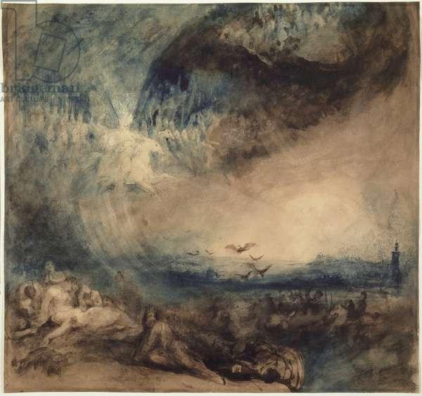Heaven Opened, 1850 (w/c on paper)
