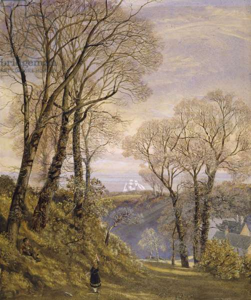 February in the Isle of Wight, 1866 (w/c on paper)
