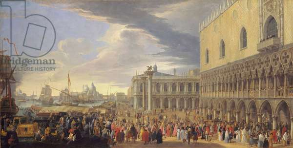 The Arrival of the Earl of Manchester in Venice, 1707-10 (oil on canvas)