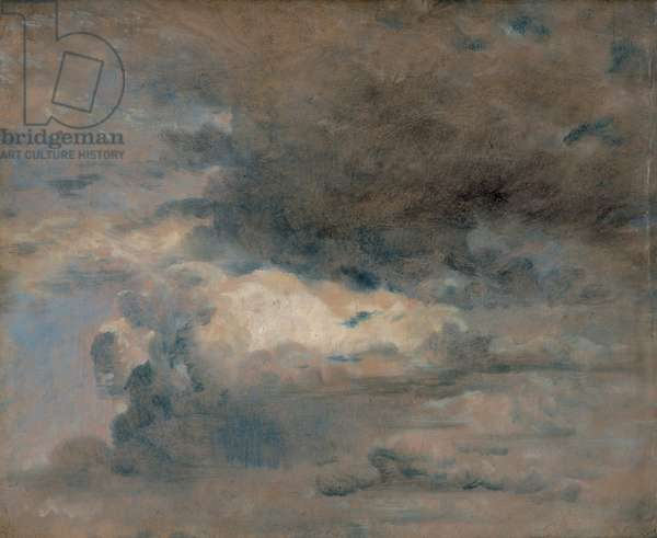 Study of Clouds - Evening, August 31st, 1822 (oil on paper)
