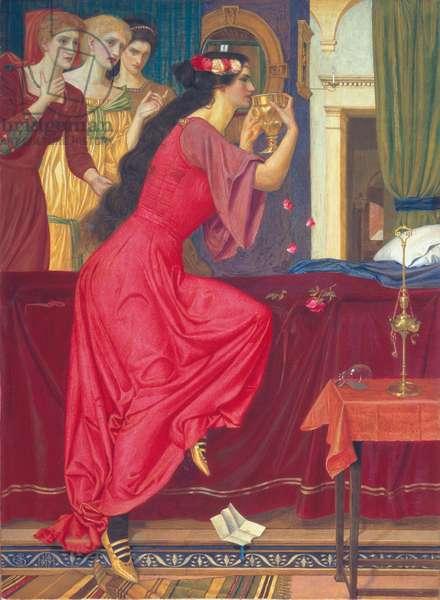 Sigismunda Drinking the Poison, 1897 (tempera on linen)