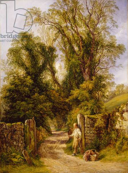 A Glimpse of Wharfdale, Yorkshire, 1835-1886 (oil on canvas)