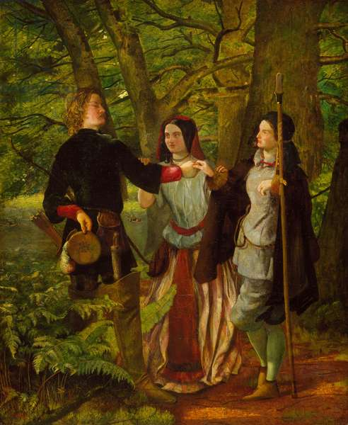 As You Like It - Act IV Scene I - Rosalind Tutoring Orlando in the Ceremony of Marriage or The Mock Marriage of Orlando and Rosalind, 1850 (oil on canvas)