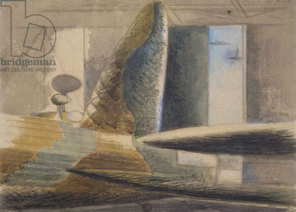 Bomber Lair, Egg and Finn, 1940 (w/c & pencil on paper)