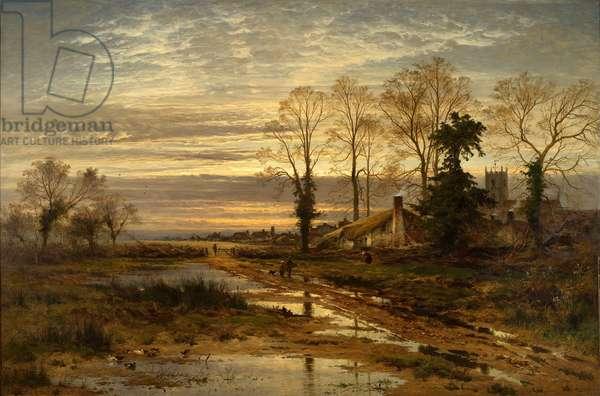 February Fill Dyke, 1881 (oil on canvas)