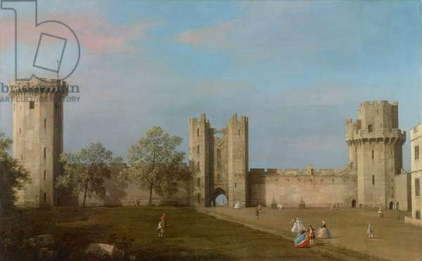 Warwick Castle, East Front from the Courtyard, 1752 (oil on canvas)