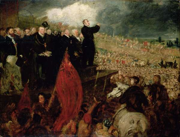 The Meeting of the Unions on Newhall Hill, Birmingham, 16th May 1832 (oil on canvas)