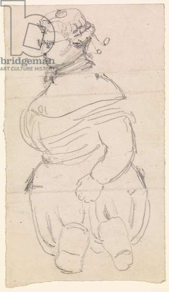 Composite Drawing of a bewigged Figure, 1861-63 (pencil on paper)