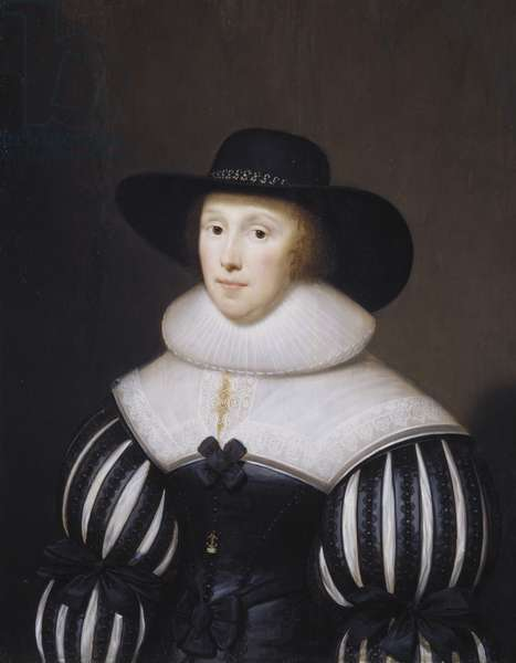 Portrait of Grace Bradbourne, Wife of Thomas Holte, 1627-1700 (oil on canvas)