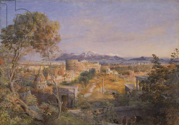 A View of Ancient Rome, 1838 (w/c and gouache over pencil on paper)