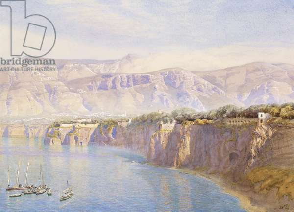 Near Sorrento, 1863 (w/c on paper)