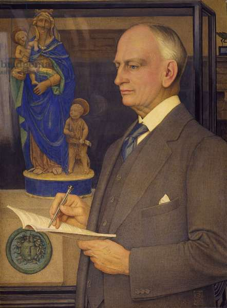 Portrait of Sir Whitworth Wallis (1855-1927) 1927 (tempera on linen laid on panel)
