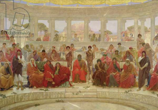An Audience in Athens During Agamemnon by Aeschylus, 1884 (oil on canvas)
