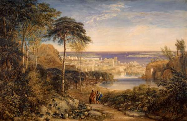 Carthage: Aeneas and Achates, 1825 (w/c & bodycolour on paper)