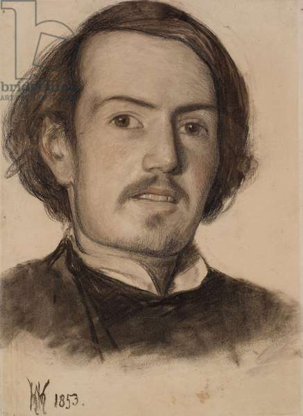 Portrait of Walter Howell Deverell, 1853 (charcoal on paper)