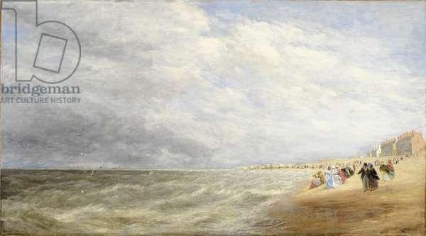 Rhyl Sands, 1855 (oil on canvas)