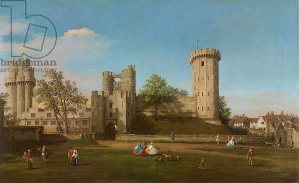 Warwick Castle, East Front from the Outer Court, 1752 (oil on canvas)